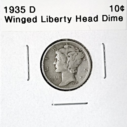 1935 D Winged Liberty Head Dime