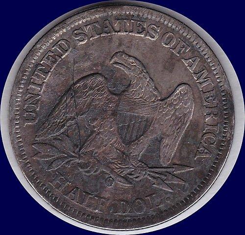 1859-O Liberty Seated Half 50C Dollar