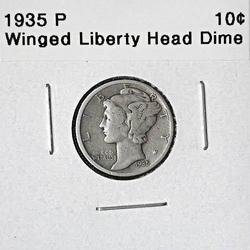 1935 P Winged Liberty Head Dime - 6 Photos!