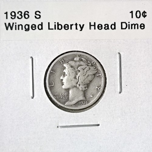 1936 S Winged Liberty Head Dime