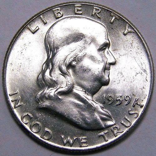 1959 P Franklin Half Dollar #2