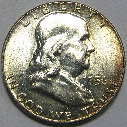 1956 P Franklin Half Dollar #1