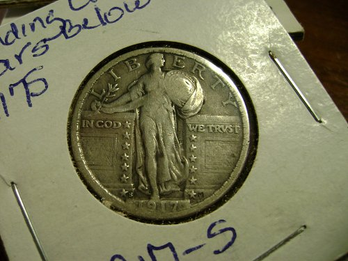 1917-S T2 Standing Liberty Quarter Free Shipping