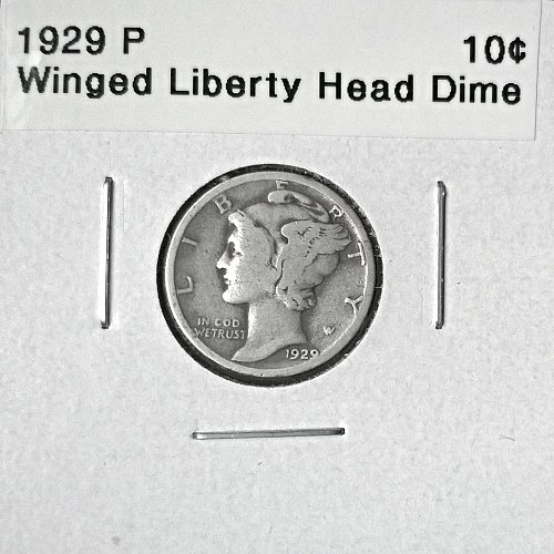 1929 P Winged Liberty Head Dime - 6 Photos!