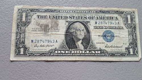 Lot of 5 1957a & b notes, including a star note