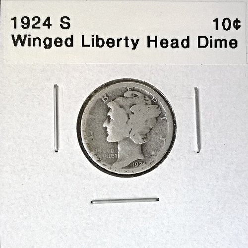 1924 S Winged Liberty Head Dime - 6 Photos!