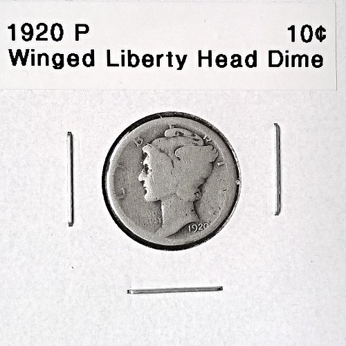 1920 P Winged Liberty Head Dime - 6 Photos!