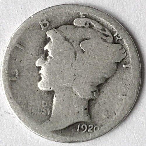 1920 P Winged Liberty Head Dime - 6 Photos!