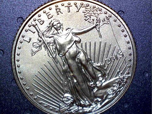 2015 american $5 1/10 oz gold eagle, possible mint error?