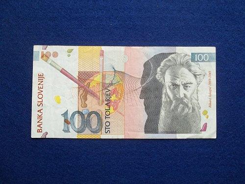 SLOVENIA 2003 100 TOLARJEV  WORLD PAPER MONEY