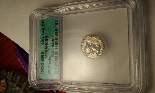 indo-grk 160-145 BC MENANDER. roman coin.