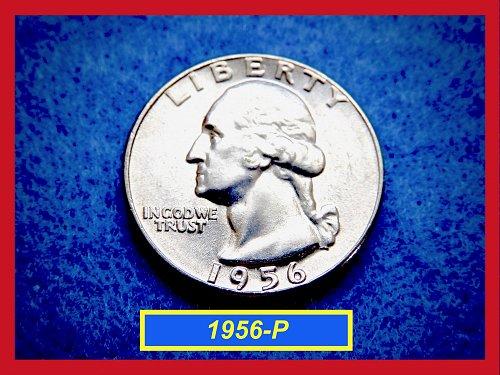 """1956-P Brilliant UNC Quarter ★ """"MS-64"""" or Higher Grade ★ (#2631)"""