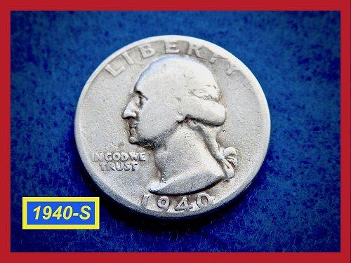 1940-S Washington Quarter  ★   CIRCULATED  ★   (#2633)