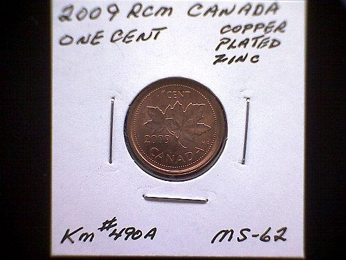 2009-RCM CANADA ONE CENT QUEEN ELIZABETH 11