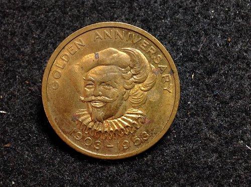 1903-1953 falstaff beer token