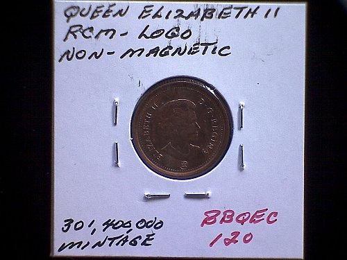 2011-RCM CANADA ONE CENT QUEEN ELIZABETH 11