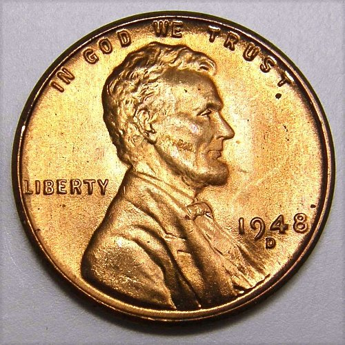 1948 D Lincoln Wheat Cent #4