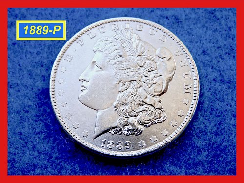 "1889-P Morgan Silver Dollar ☆ ""AU-58..to..MS-60""  ☆ (#5386)a"