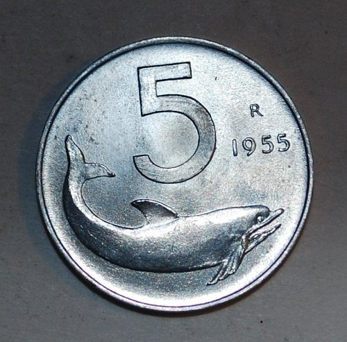 1955 ITALY 5 Lire