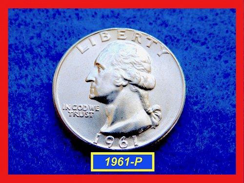 """1961-P GEM UNC Washington Quarter   ★  """"MS-65""""   ★  (#2640)"""