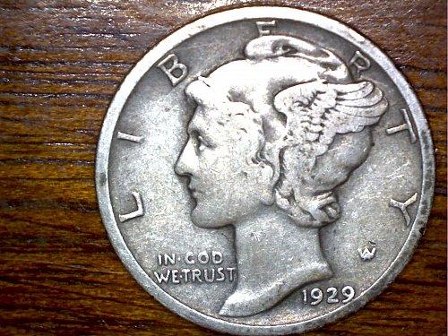 1929P Dime, 90% Silver