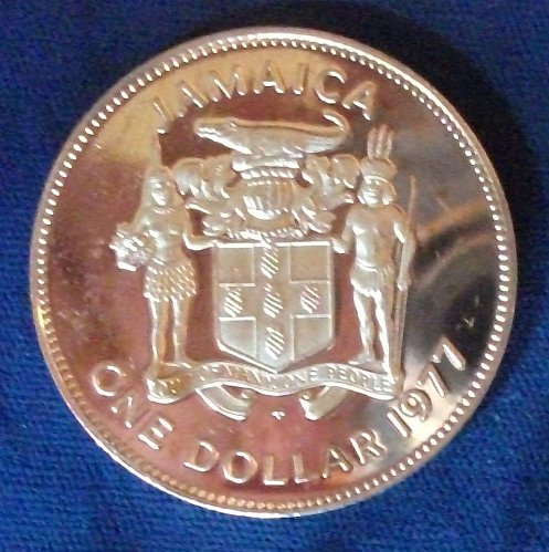 1977 Jamaica Dollar Proof