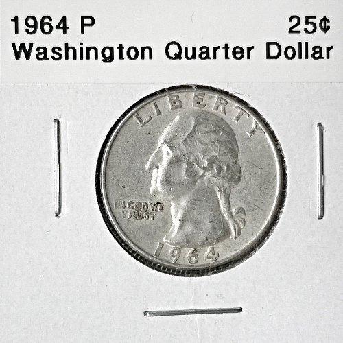 1964 P Washington Quarter Dollar - 6 Photos!
