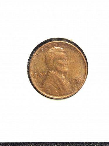 1954 D Wheat Cent VF30