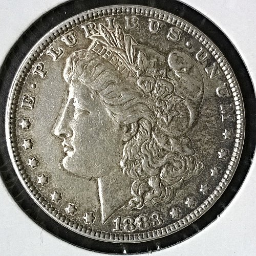 1883 P Morgan Dollar - Some stains on reverse