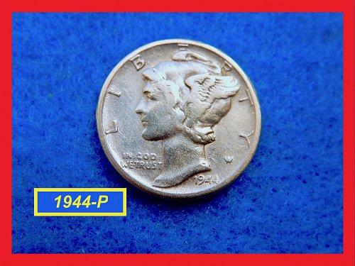 """1944-P Mercury Dime ★  Nice """"VF-25"""" Coin ★ (#3522a)√"""