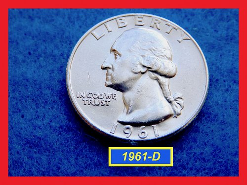 1961-D Washington Quarter   ★  UNCIRCULATED ★  (#2636)√