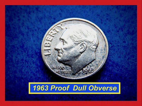 1963 PROOF  Roosevelt Dime ★  Lower Grade Proof Coin  (#3519)√