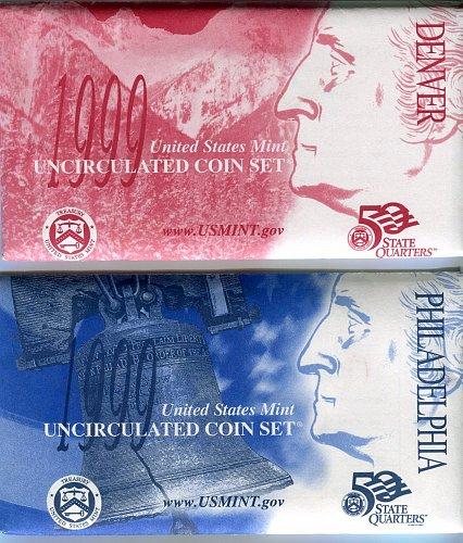 4 1999 U.S. MINT SETS - 18 COIN SETS IN ORIGINAL ENVELOPES