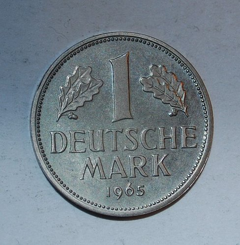 GERMANY 1 MARK 1965-G PROOF