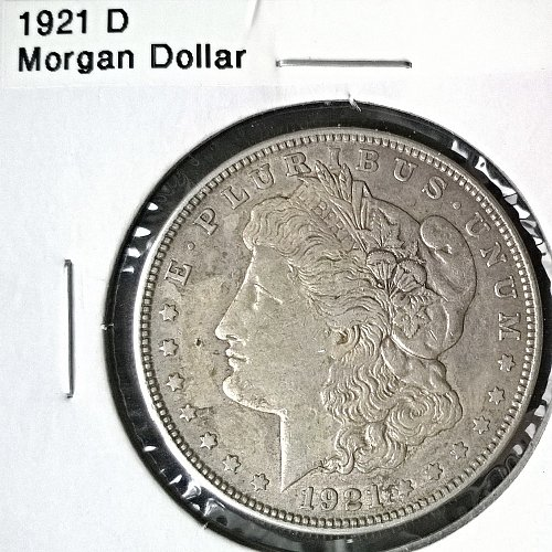 1921 D Morgan Dollar - 6 Photos!