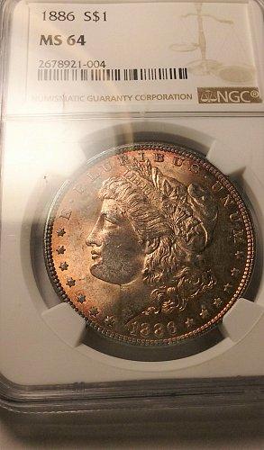 1886 S silver dollar.