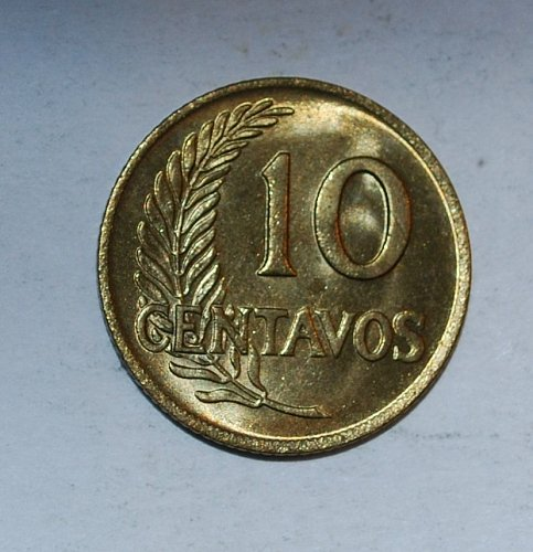 PERU 10 Centavos 1960  (183)