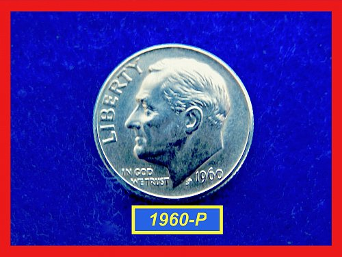 "1960-P  Roosevelt Dime ★  Condition is ""AU-53""  ★ (#3526)√"