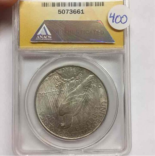 1927-D $1 Peace Silver Dollar ANACS MS-62 Certified #507366 Coin