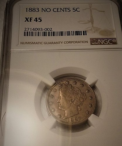 1883 liberty nickel.