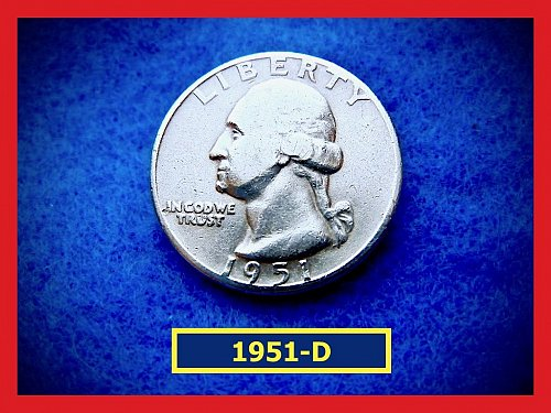 1951-D Washington Quarters ★ CIRCULATED ★  (#2410)√