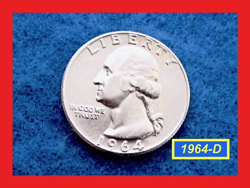 "1964-D   Washington Quarter  ★ Choice ""XF - AU""  ★ (#2575)√"
