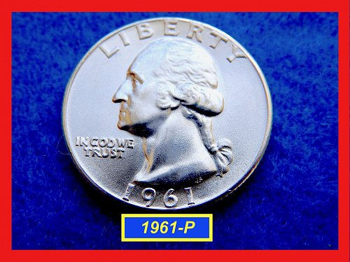 "1961-P GEM UNC Washington Quarter  ★ ""Uncirculated"" ★ (#2638)√"