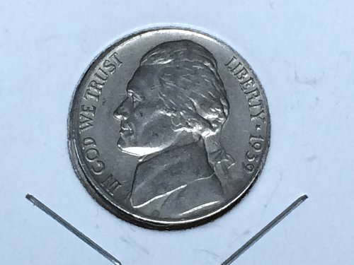 1939 P Jefferson Nickel - Reverse of 1940