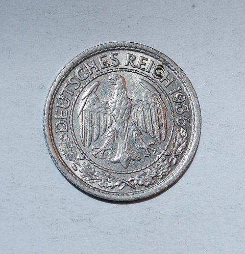 Germany - Weimar Republic 50 Reichspfennig 1936 A  ---(246)