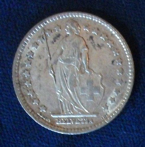 1911 Switzerland Franc VF+