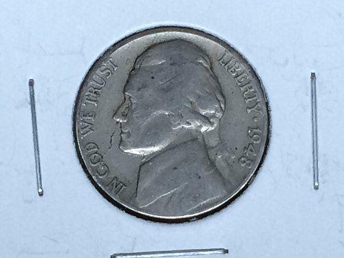 1948 P Jefferson Nickel