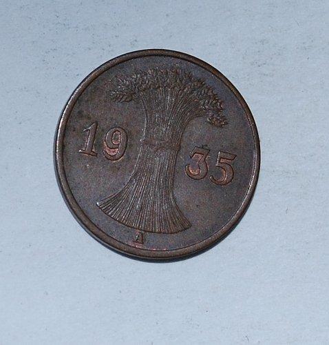 Germany 1 Reichspfennig 1 Pfennig 1935 A