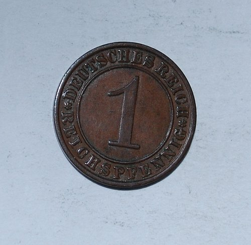 Germany 1 Reichspfennig 1 Pfennig 1931 A
