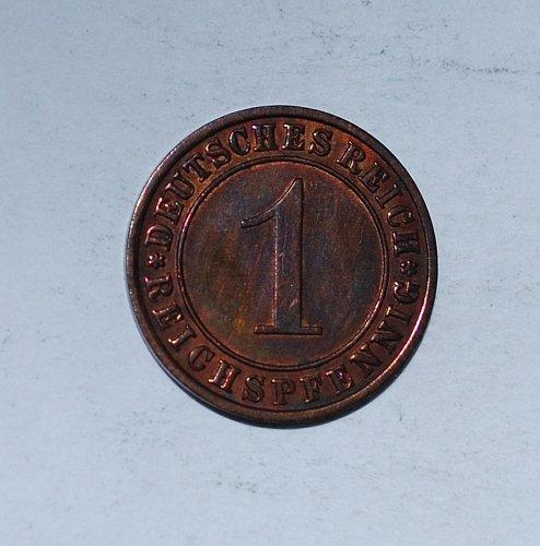 Germany 1 Reichspfennig 1 Pfennig 1 Pfennig 1931 A